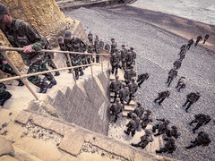 Invasion (amipal) Tags: beach cliff clone england gb greatbritain me stairs steps sussex telscombe uk unitedkingdom