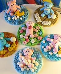 Teddy bear cupcake toppers (eMillicake) Tags: handmade fondant cupcake toppers