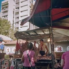pork vendor (TKBou) Tags: taiwan taipei market tradintion pork vendor 台灣 菜市場 台北 肉 攤販 台湾 snap street photographer フォトグラファー スナップ 写真好きな人と繋がりたい ファインダー越しの私の世界 followme instalike instagood hasselblad