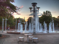 Knoxville Respite (Cocoabiscuit) Tags: cocoabiscuit olympus em5 knoxville tennessee worldsfair fountains