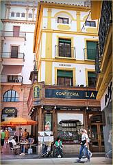 """Confiteria Heladeria """"La Campana"""", calle Sierpes, Sevilla, Andalucia, Espana (claude lina) Tags: claudelina espana spain espagne andalucia andalousie ville town city sevilla sville architecture"""