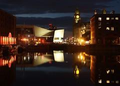 Reflections - Albert Dock and Pier Head, Liverpool (NatuRHM) Tags: sea seascape liverpool dock albert maritime ships night reflections light merseyside england britain uk