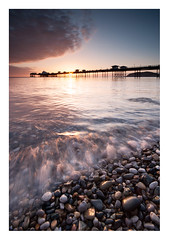 Before The World Wakes (A-D-Jones) Tags: ocean morning light sea sun seascape wales clouds landscape coast pier early waves side north pebbles rise llandudno conwy