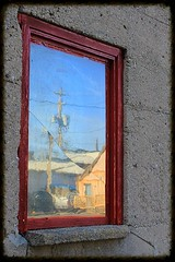 Through a Cracked Window (Judy Gayle) Tags: window cracked parkhill refections pfdoors13