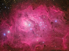 The Lagoon Nebula, Messier 8 (Rolf Wahl Olsen) Tags: sky color star space deep astro observatory telescope astrophotography planet astronomy universe cosmos deepspace astrometrydotnet:status=solved astrometrydotnet:version=14400 competition:astrophoto=2013 astrometrydotnet:id=alpha20130520795195 astro:subject=messier8