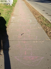 some crazy kid game (jessamyn) Tags: vermont sidewalk hopscotch randolph randolphvt