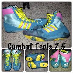 Adidas Cb 2 Teals size 7.5- GONE (Grappler1999 (719-250-3173)) Tags: shoes wrestling adidas combat speeds teals