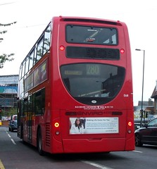 London General E68 on route 280 Mitcham 19/05/13. (Ledlon89) Tags: bus london buses general transport londonbus tfl mitcham goahead alexanderdennis enviro400