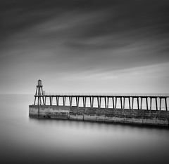 East Pier Whitby (Ian-Barber Photography) Tags: longexposure square mono whitby eastcoast ianbarber 08uk longexposureblackandwhite
