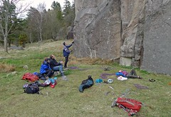 Sunday afternoon at Galgeberget (Don Lardy) Tags: rock sweden climbing granite climber bohusln