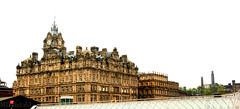Balmoral Hotel Edinburgh (MDydbahl) Tags: old panorama white castle tourism architecture contrast photography scotland edinburgh fort britain oldarchitecture mdybdahl