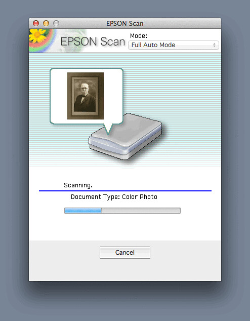 EPSON Scan- Scanning Color Photo