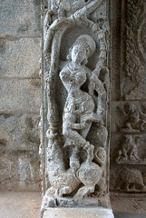 A Dancer on the Temple entrance (VinayakH) Tags: halasurusomeshwaratemple bangalore india ulsoor chola vijayanagaraempire kempegowda hindu shiva temple hinduism