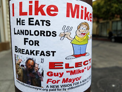 This election can't possibly get weirder (quinn.anya) Tags: berkeley mayor landlord election sign politics localpolitics cannibalism