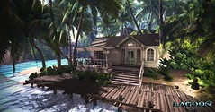 Sea Cottage for rent in Lagoon   RENTED  (but I have another one left) (Vita Camino) Tags: ocean new summer beach gardens rainforest camino visit lagoon best sl secondlife tropical rent vita giardini indies slur destinations 2016 rentals caribbeans lagoongiardini