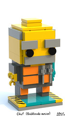 Chief (Brickheadz version) (Arthuriel) Tags: brickheadz chief lego moc afol rockraiders bluerender whitebackground teal