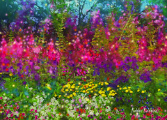 Late Summer Afternoon (brillianthues) Tags: flowers summer floral collage photoshop garden photography colorful photmanuplation