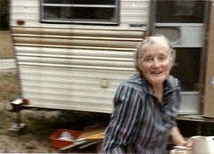 Oh, must you take my picture? (912greens) Tags: elderly 1980s blurry happiness vacations rvs folksidontknow