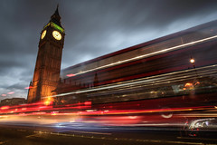 GHOST BUS (Rober1000x) Tags: summer 2016 bus tower bigben clock architecture england uk london londres dusk clouds sky europa europe