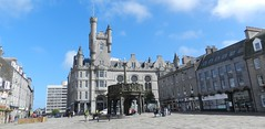 The Salvation Army Citadel and Mercat Cross, Castlegate, Aberdeen, August 2016 (allanmaciver) Tags: salvation army mercat cross aberdeen silver city east coast castlegate quiet high rise flats allanmaciver citadel