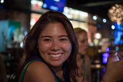 Melissa (clemnus) Tags: smile blue night girl canadian bokeh abc d3200 shallowdepthoffield shanghai china asian portrait f18 18 35mm nikkor nikon nikonafsdxnikkor35mmf18g
