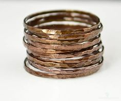 Super Thin Bronze Co (alaridesign) Tags: super thin bronze copper stacking ring these rings 11 each choose number you want from quantity pulldown elegant rustic original is ha alari