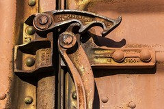 The Latch (Kool Cats Photography over 7 Million Views) Tags: latch rust closeup red