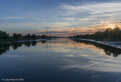 The River Ribble from Riversway, Preston. 29th August 2016. (craigdouglassimpson) Tags: rivers reflections sunset water pylons riverribble preston lancashire england
