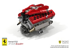 UCS Tipo F140 FC V12 Engine (lego911) Tags: ferrari f12 berlinetta coupe tdf tour de france v12 auto car moc model miniland lego lego911 ldd render cad povray 2016 2010s italy ltalian supecar sportscar lugnuts challenge 106 exclusiveedition exclusive edition ucs engine motor f140 fc tipo
