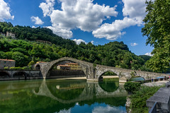 Bridge of the Devil (douloop1979) Tags: bridge devil tuscany italy water nature sky cloud ponte della maddalena mary magdalene sony a6000