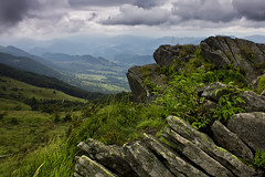 My Place on Earth (adam_dunikowski) Tags: rock mountain mountains sky clouds bieszczady polska poland hills