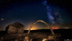 Arc d'Adar (www.jorgelazaro.es) Tags: lightpainting luz estrellas noche circumpolar aitona campo llardecans linterna azul piedra nocturna paisaje adar norte polar luces arco ruinas landscape