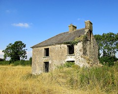 Derelict farmhouse (JulieK (thanks for 8 million views)) Tags: hww wallwednesday derelict farmhouse windows canonixus170 wexford grasses trees bluesky chimney rural arable field wildflower 2016onephotoeachday bleakhouse oncewashome