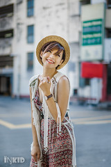 DSC08291 (inkid) Tags: hat street fashion female women model portrait outdoor bokeh dof ambient light  agnes lim people sony dslr a900 malaysia girl asian indoor dslra900 asiangirl chinese babe natural asianbabe photography lens pretty asianchick asiangirls asianmodel asianwomen beautiful girls lady shorthair models woman penang georgetown 50mm f14 za ssm