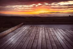 Sunset on the deck (Rob.J.Davis) Tags: x100 tclx100 scotland mullofgalloway dundream sunset decking sky dramaticsky fuji fujifilm