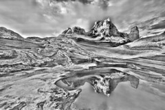 Black & White Pocket (judith.kuhn) Tags: natur nature landscape landachaft felsen rocks wasser water spiegelung reflexion wolken clouds usa utah arizona vermilioncliffsnationalmonument whitepocket
