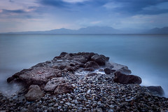 Pointing Across III (f.stratios1986) Tags: ifttt 500px long exposure water sea clouds beach seascape rocks jetty waves blue summer oropos attica greece agioi apostoloi kalamos