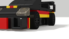 2013 Pagani Zonda Revolucion (Kevin_Michaels) Tags: pagani zonda revolucion 2013 lego car black racecar race 4wide stripe stripes render tiny turbo italy digital designer ldd italian