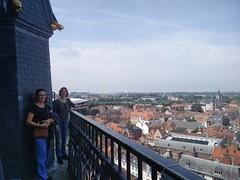 En haut du belvédère de Tournai