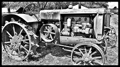 vintage oliver tractor in black & white (delmarvausa) Tags: blackandwhite delmarva monochrome blackandwhitephotos imagesofdelmarva delmarvapeninsula moments lifeondelmarva blackandwhiteimages blackwhite vintage tractor oliver oldtractor antiquetractors farming