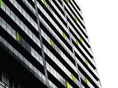 Classeur  logements / Filing Apartments (loupbrun) Tags: abstract abstrait architecture montreal griffintown urban urbain condominium condos city green yellow gray vert jaune gris