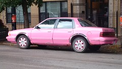 Pink Buick Century #2 (artistmac) Tags: chicago illinois il city urban street northside uptown howardbrown irvingparkroad sheridan buick buickcentury pink car automobile sedan rust marykay