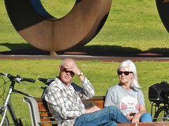 Couple in Sunnies (mikecogh) Tags: glenelg couple babyboomers sunglasses bench