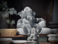 Ganesha (The Spirit of the World) Tags: god hindugod deva statue store shop india southernindia kerala wares patronofletters godofbeginnings wisdom hindu religion religious deity