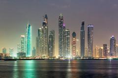 Dubai Marina - United Arab Emirates (Dutchflavour) Tags: dubai dubaimarina uae unitedarabemirates cityscape lights twilight cayanbuilding infinitytower princesstower   night