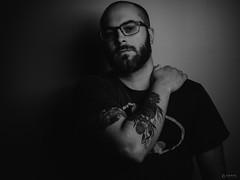Confidence Building (Adam C Images) Tags: nikon d800 50mm f18g black white self portrait strobist westcott softbox metz flash cactus triggers full frame