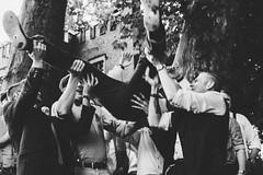 Up! (Yuliya Bahr) Tags: wedding weddingreport men man hands friends happy happiness action movement motion event party groom groomsmen bw mono hochzeit hochzeitsfeier rittergutorr pulheimamorr germany hochzeitsfotografkln hochzeitsfotografberlin hochzeitsfotografmnchen hochzeitsfotograffrankfurt hochzeitsfotograftirol hochzeitsfotografsterreich hochzeitsfotografitalien documentary reportage kinfolk filmlook grain shoes sw schwarzweiss