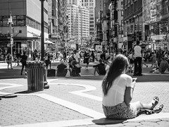 People Watching (C@mera M@n) Tags: blackandwhite city citylife manhattan monochrome ny nyc newyork newyorkcity places street streetphotography unionsquare urban peoplewatching streetlife urbanlife