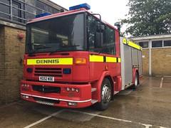 Hertfordshire Fire & Rescue Reserve Appliance (slinkierbus268) Tags: hertfordshirefireandrescue hertfordshire fireandrescue fireengine fireappliance dennis dennissabre sabre reservepump