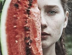 Watermelon (alexandra_bochkareva) Tags: helios head freckles watermelon eyes